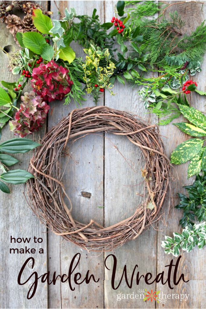 How to Make a Fresh Festive and Free Garden Wreath