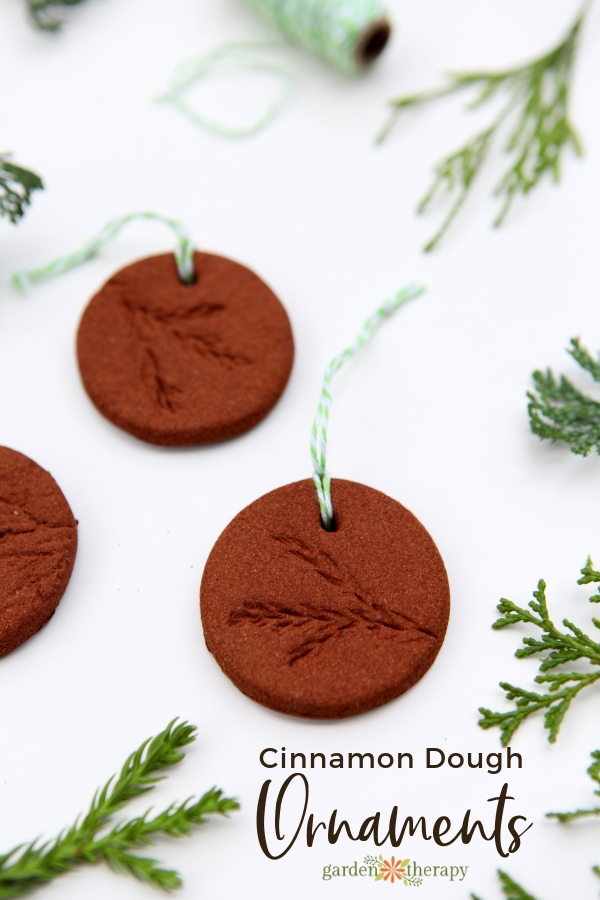 Cinnamon Dough Ornaments with Botanical Prints