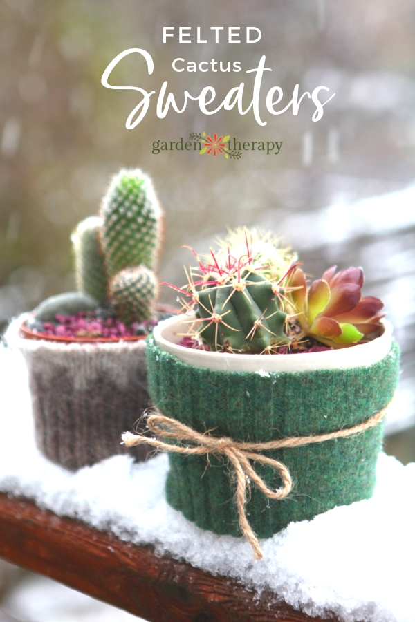 Felted Cactus Sweaters
