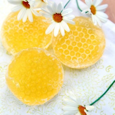 A Sweet Homemade Honeycomb Soap Recipe