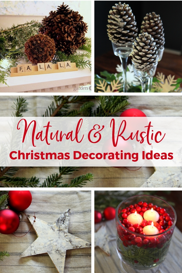 Natural and Rustic Christmas Decorating Ideas