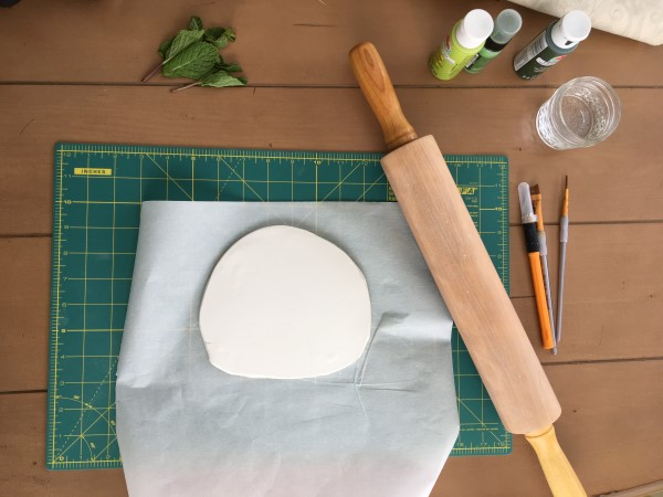 How to make a botanical print clay dish