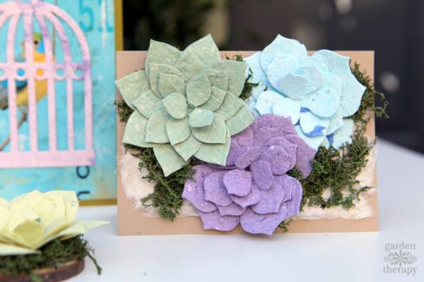 Paper Succulent Card