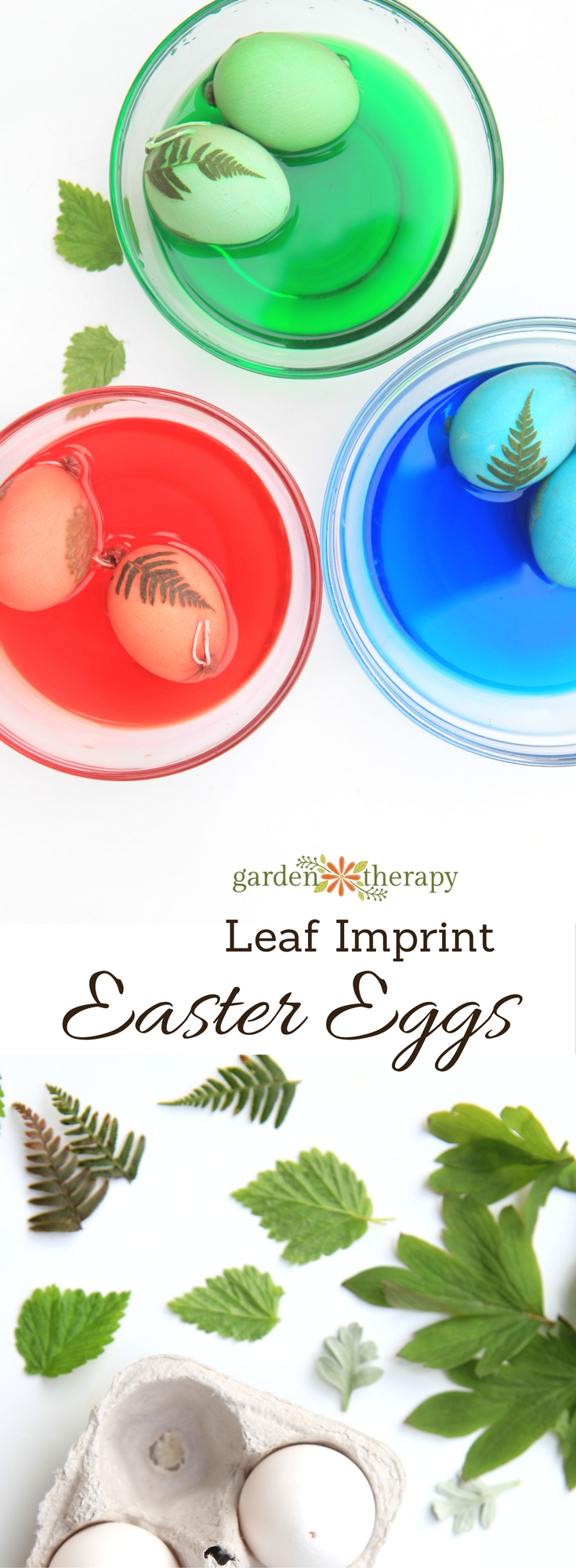 How to make dyed leaf imprint Easter eggs