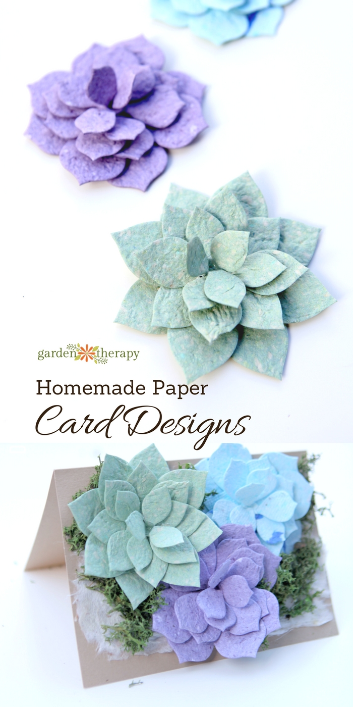 Card Design Ideas for using homemade seed paper