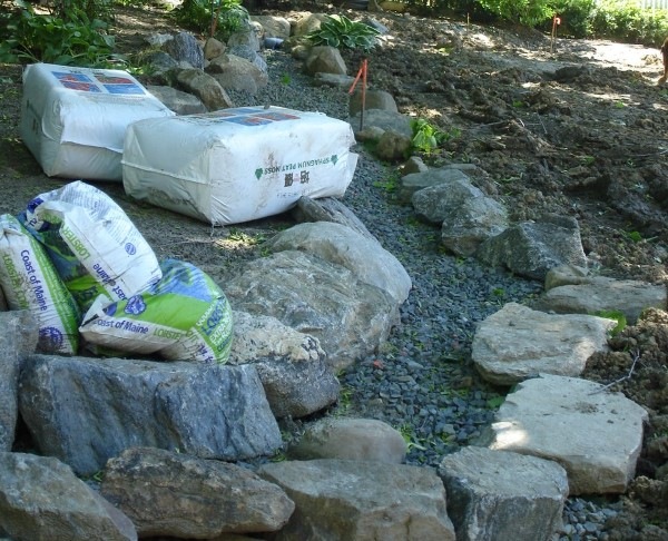 Supplies needed for a dry creek bed