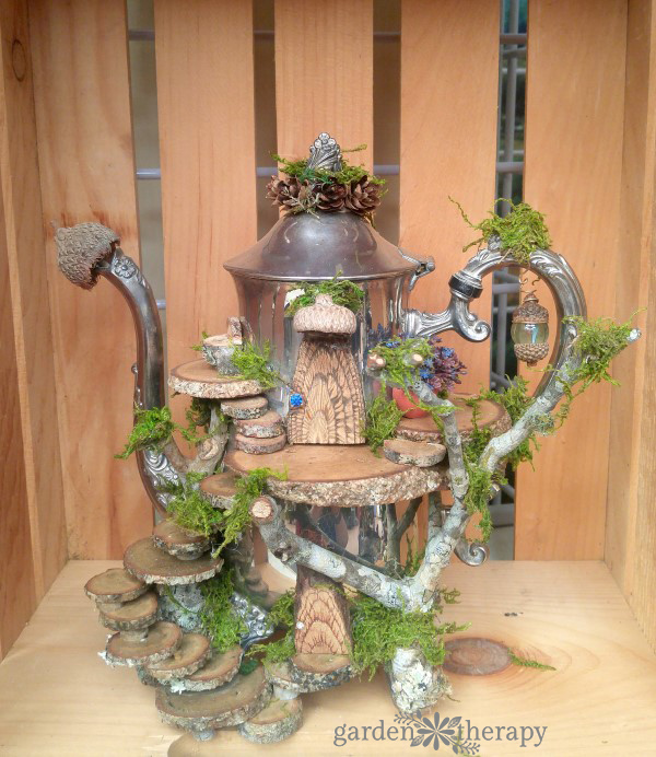 Fairy Houses from Foraged and Found Objects