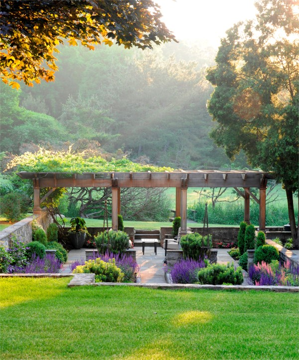 Pergola garden, photograph by Stacy Bass