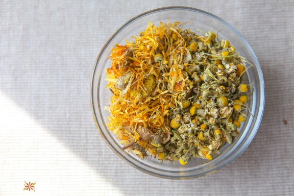 Calendula and Chamomile