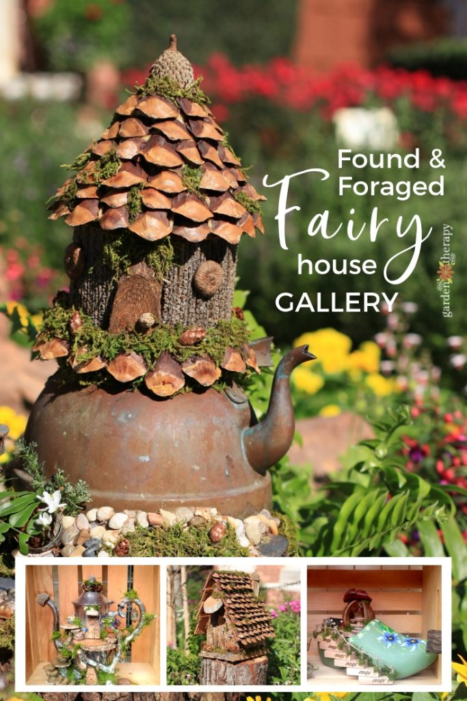 Found and Foraged Fairy Houses