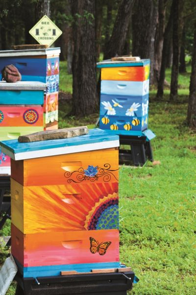 How to Make Gorgeous Painted Beehives