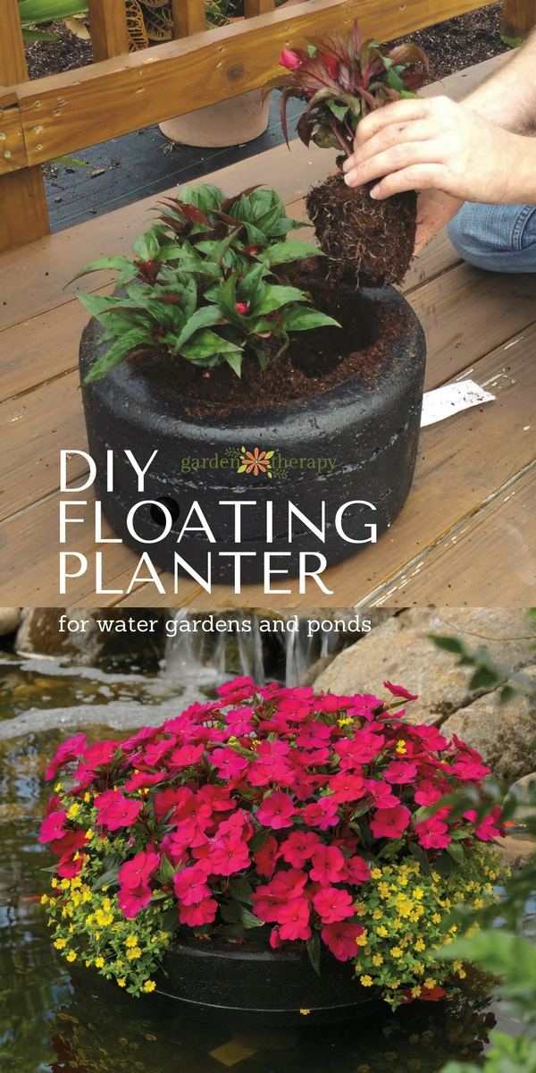 How to make a floating pond planter