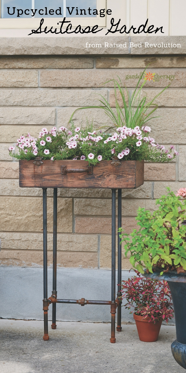 Upcycled Suitcase Planter Raised Bed