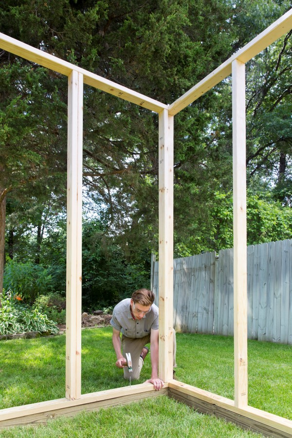 build a greenhouse frame