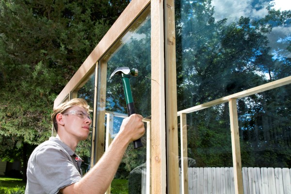 building an old window greenhouse