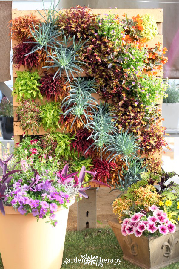 Colorful Foliage Decorative Pallet Planter