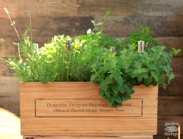 How to Make a Wood Wine Shipping Crate Herb Garden