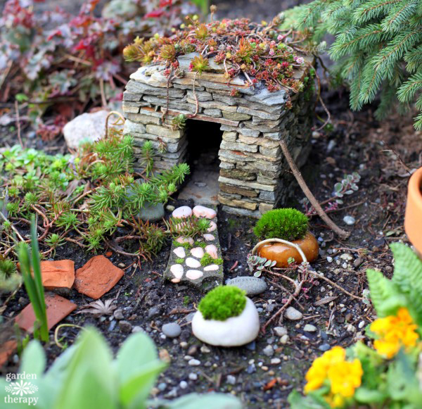 Magical Miniature Garden Stone Fairy House