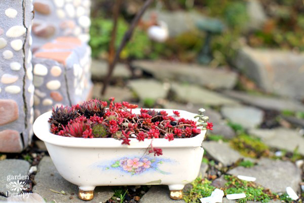 Magical Miniature Gardens (Vintage Bathtub)