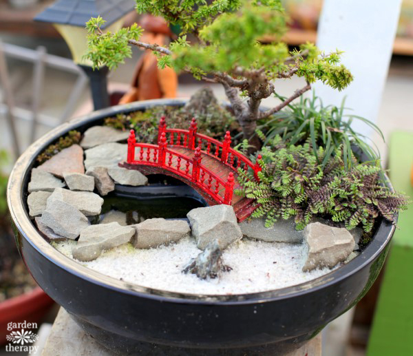 Magical Miniature Gardens (red bridge)