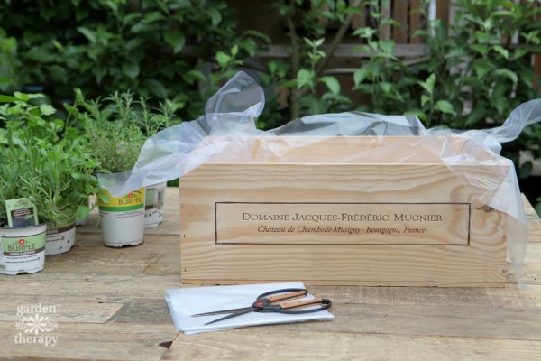 Wood Wine Box Garden