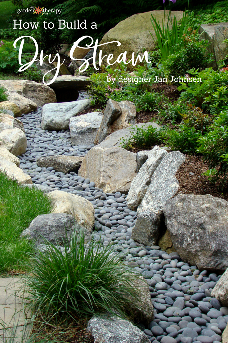 A Dry Stream Is A Landscaping Design That Looks Like A Decorative Garden  Feature, Even Though It Is Also A Practical Solution To Garden Runoff.
