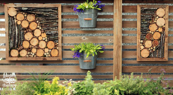 Bug hotel wall art