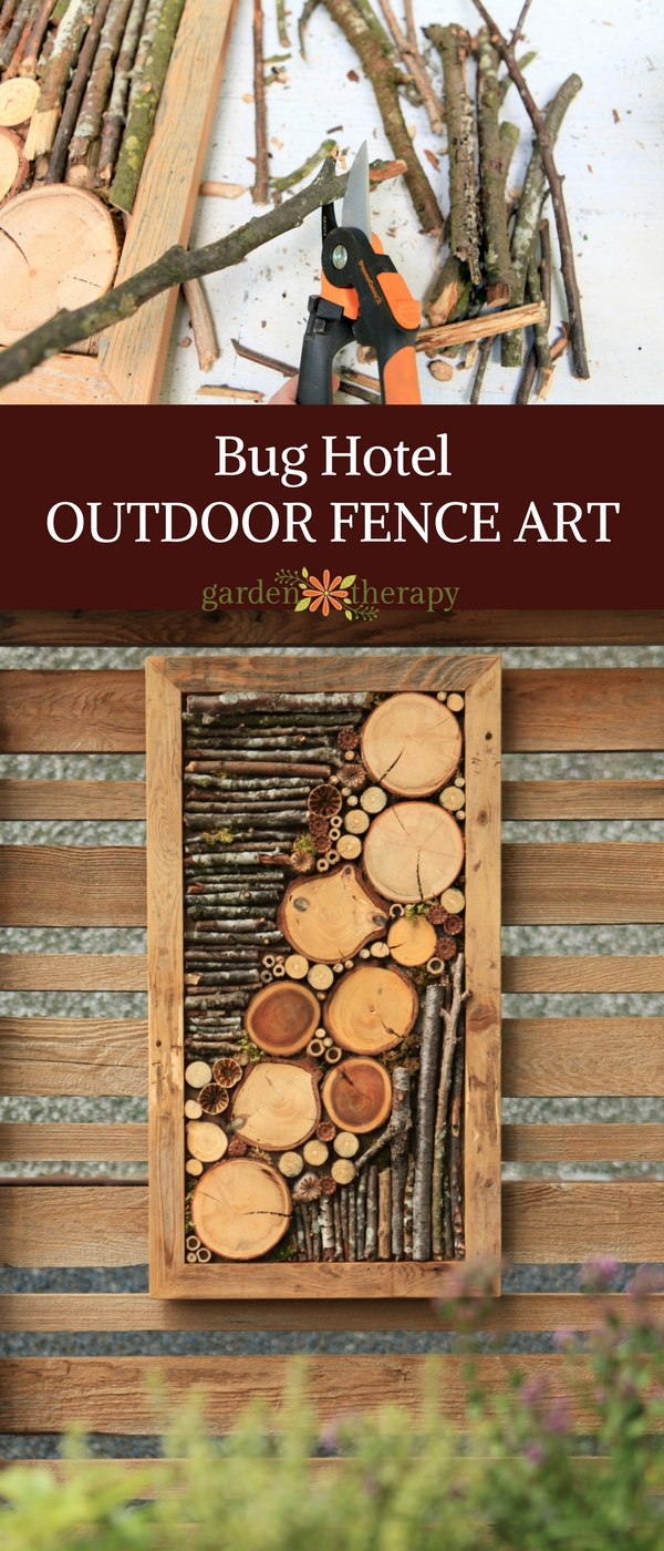 Awesome Bug hotel outdoor fence art