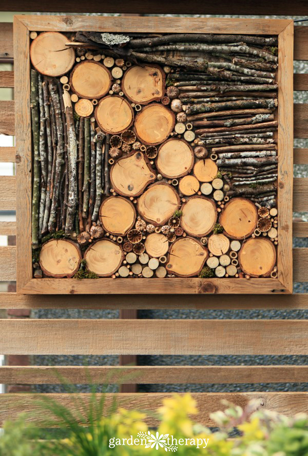 Stunning Liven up a fence with bug hotel art