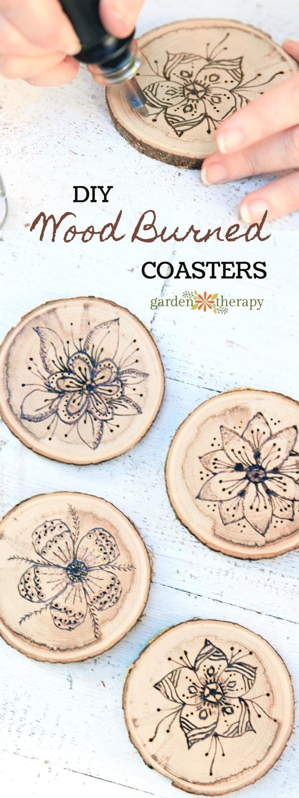 How to Make Wood Burned Coasters