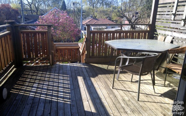 Deck makeover BEFORE