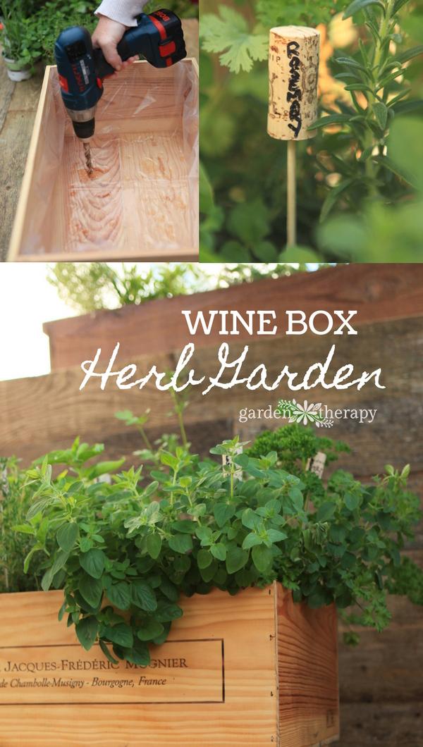 Wine Box Herb Garden DIY