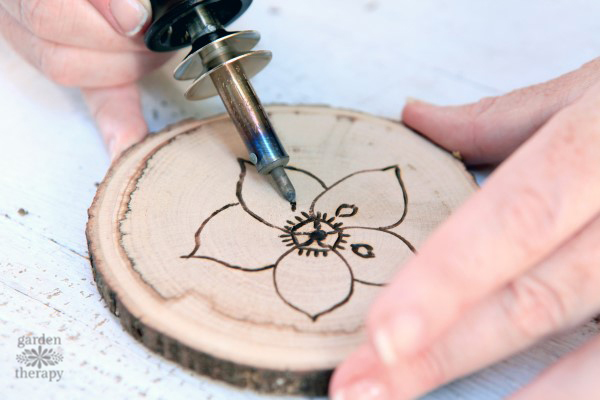 pyrography coasters