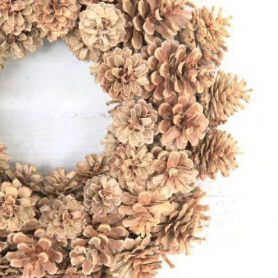 A Fabulous Fall Bleached Pinecone Wreath