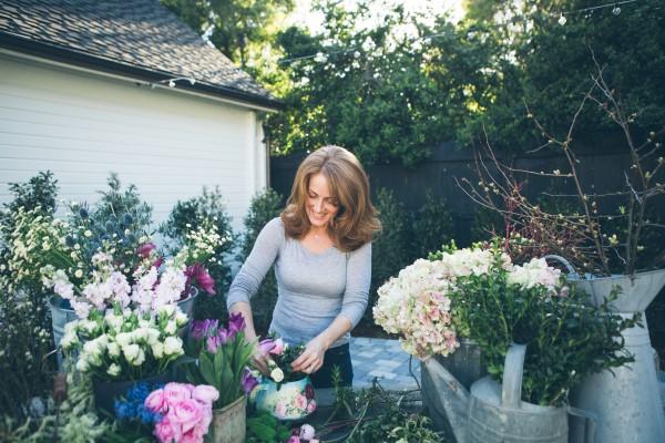 Kelly Wilkness Flower Arranging