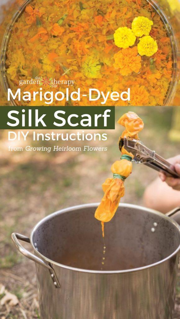 Marigold-Dyed Silk Scarf