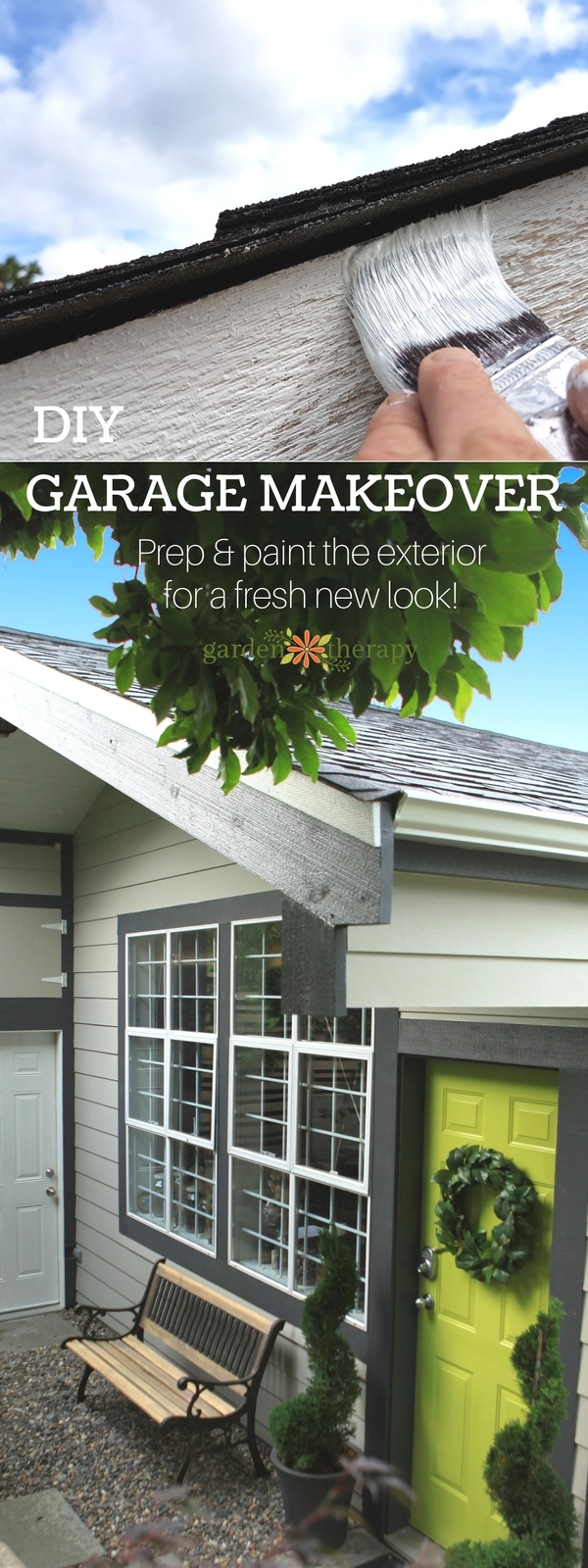 She Shed Exterior Garage Makeover How to Prep and Paint the Exterior
