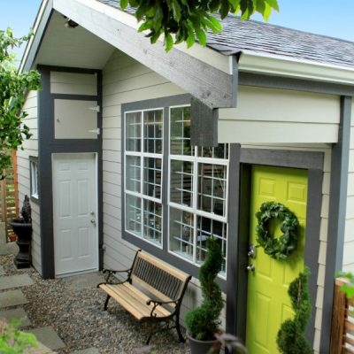 A Gardener's She Shed Garage Makeover