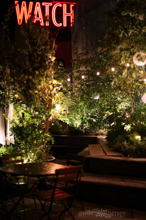 1 Hotel Brooklyn Bridge Rooftop Patio Garden Lights