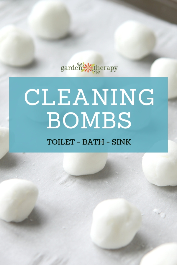 DIY Cleaning Bombs Recipe for toilets, sinks, and baths