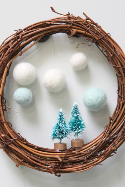 Make a Festive Snowball Wreath