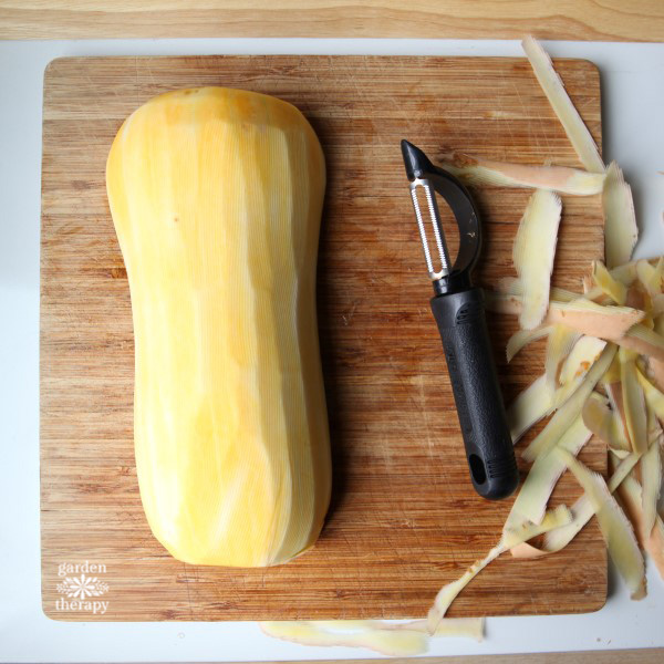 How to prep butternut squash the easy way.