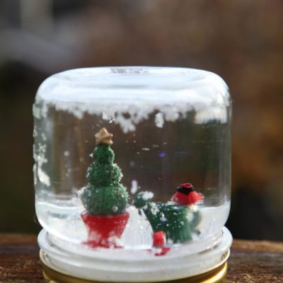 Whimsical Mason Jar Snow Globes for the Holidays