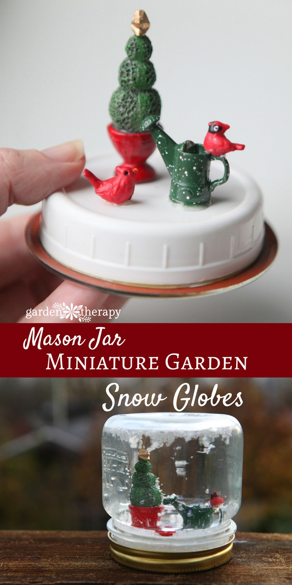 whimsical mason jar snow globes for the holidays garden therapy