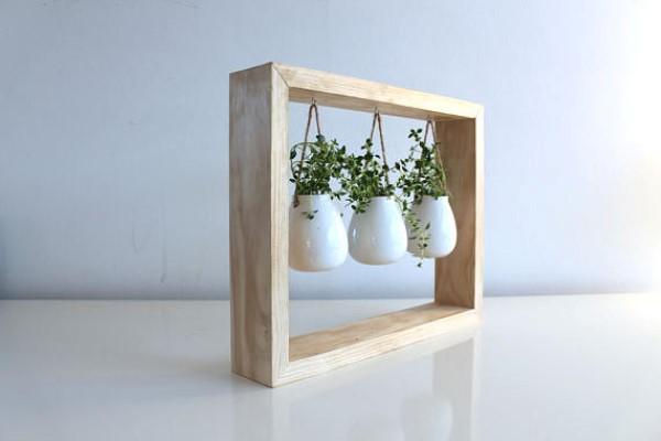 Hanging plant frame