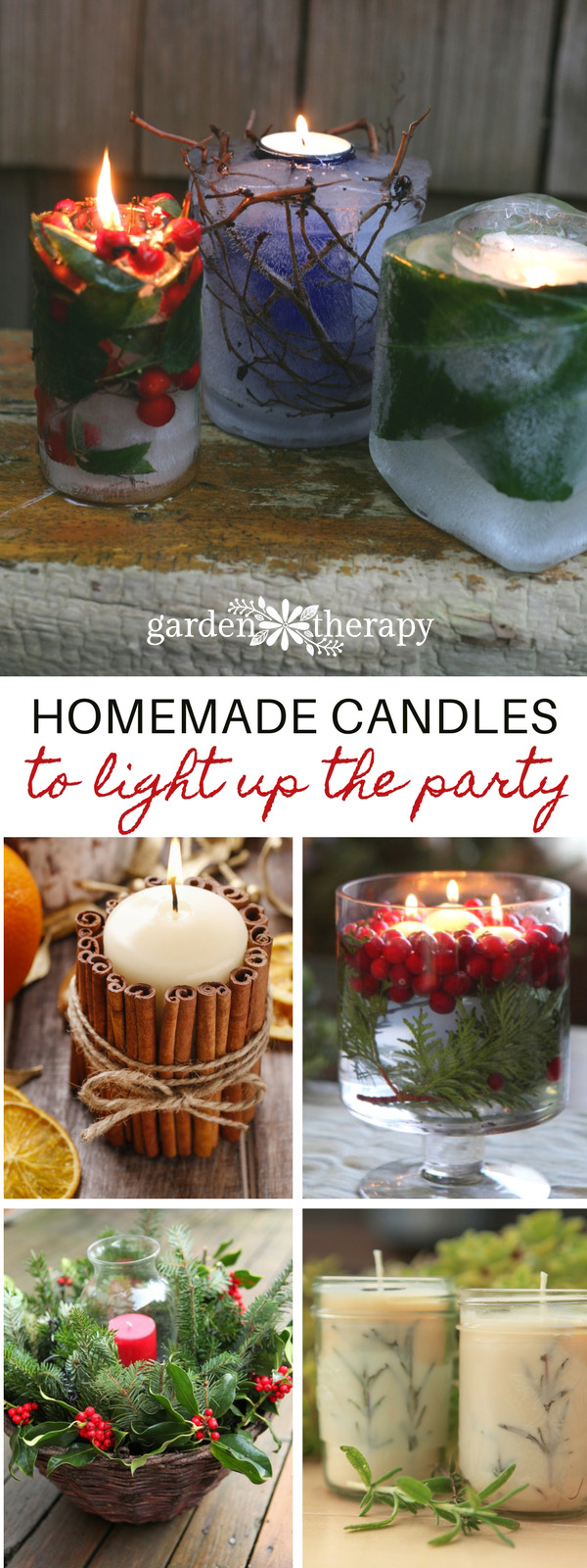 winter candle projects