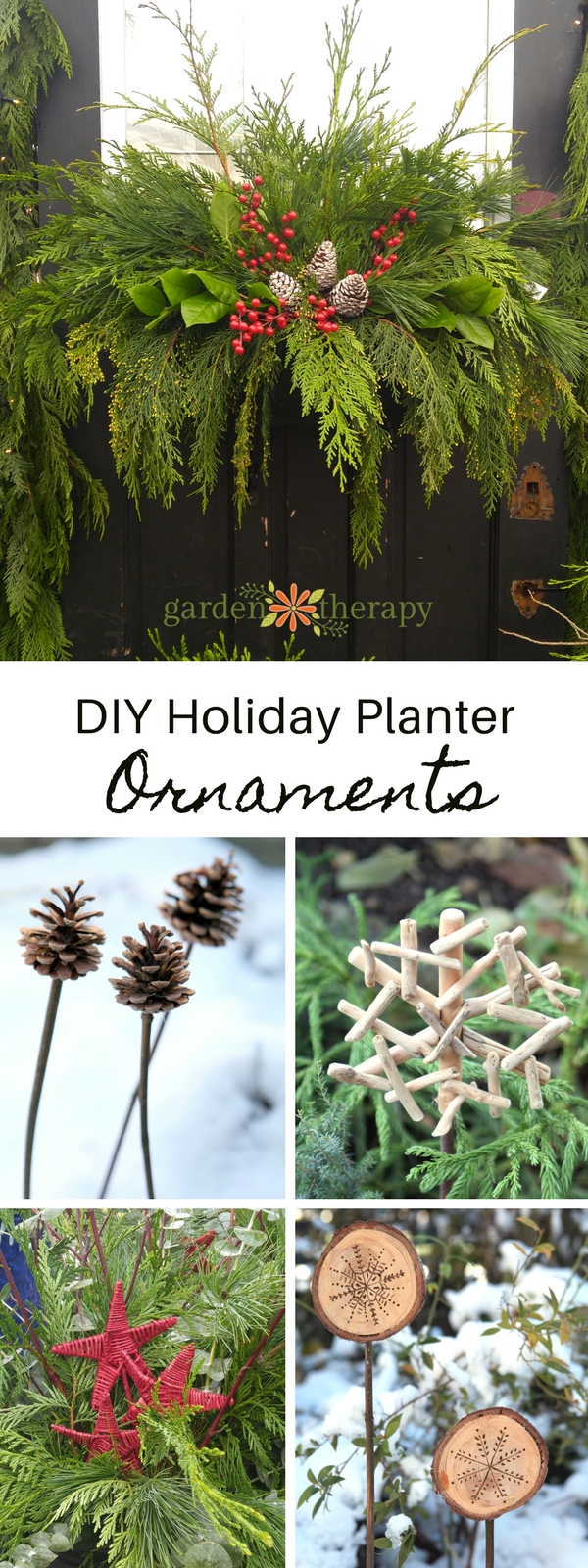 Easy and frugal DIY planter ornaments