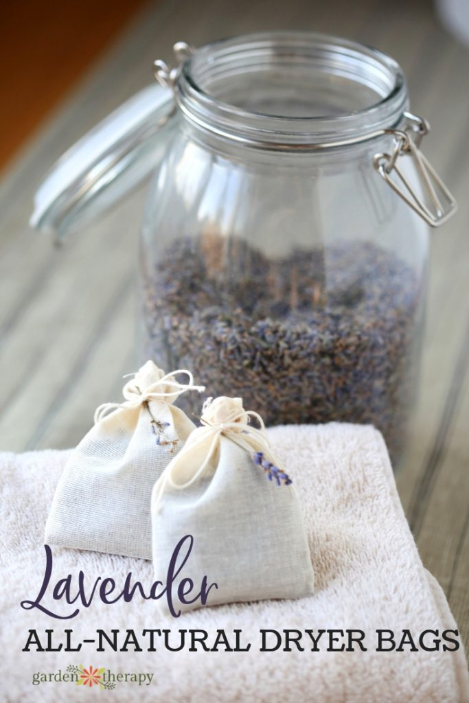 Lavender All-Natural Dryer Bags. Freshen your laundry naturally.