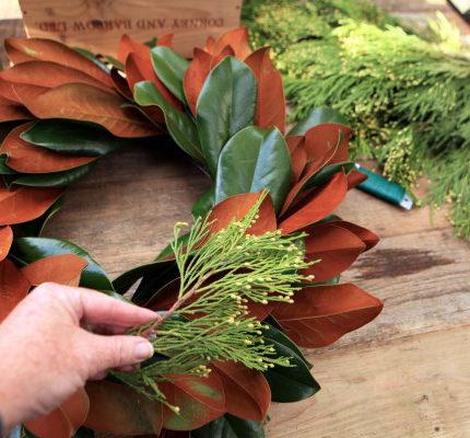 Adding to the wreath