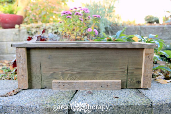 Make a simple winter window box